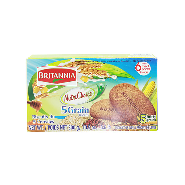 Indian grocery online - Britannia Nutrichoice 5 Grain Biscuits 300G - Cartly