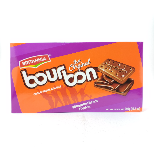 Indian grocery online - Britannia Bourborn Chocolate Cream Biscuits  390G - Cartly