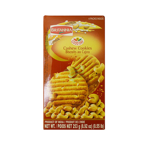 Indian grocery online - Britannia Good Day Cashew Cookies 253G  - Cartly
