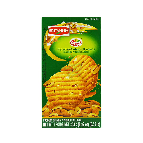 Indian grocery online - Britannia Pistachio & Almond Cookies 253G - Cartly