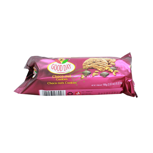 Indian grocery online - Britannia Good Day Choco-Nut Cookies 100G - Cartly