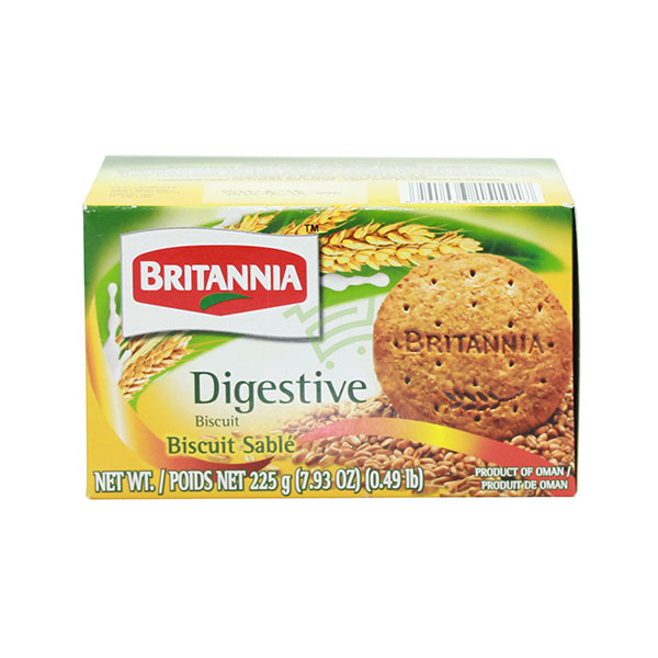 Indian grocery online - Britannia Digestive Biscuits 225G - Cartly