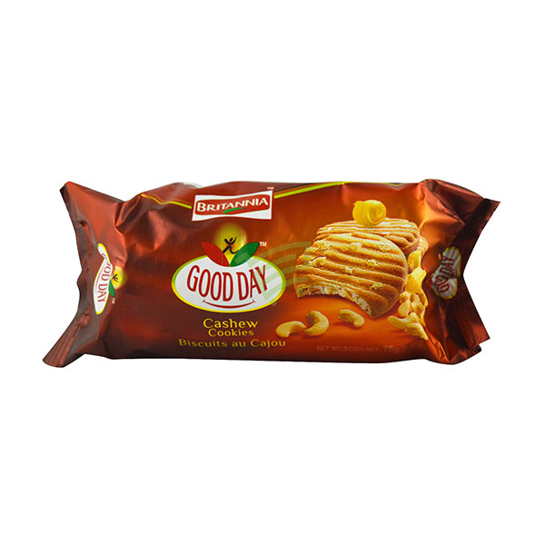Indian grocery online - Britannia Cashew Cookies 75G - Cartly