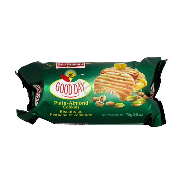 Indian grocery online - Britannia Pista Almond Cookies 75G - Cartly