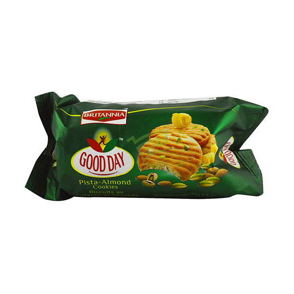 Indian grocery online - Britannia Good Day Pista Almond Cookies 75G - Cartly