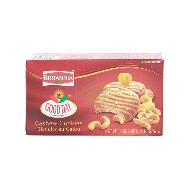 Indian grocery online - Britannia Good Day Cashew Cookies  231G - Cartly
