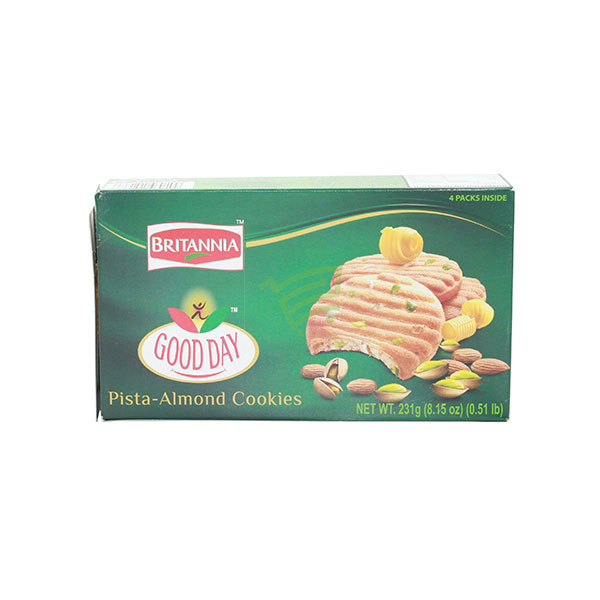 Indian grocery online - Britannia Good Day Pistachio & Almond Cookies 231g - Cartly