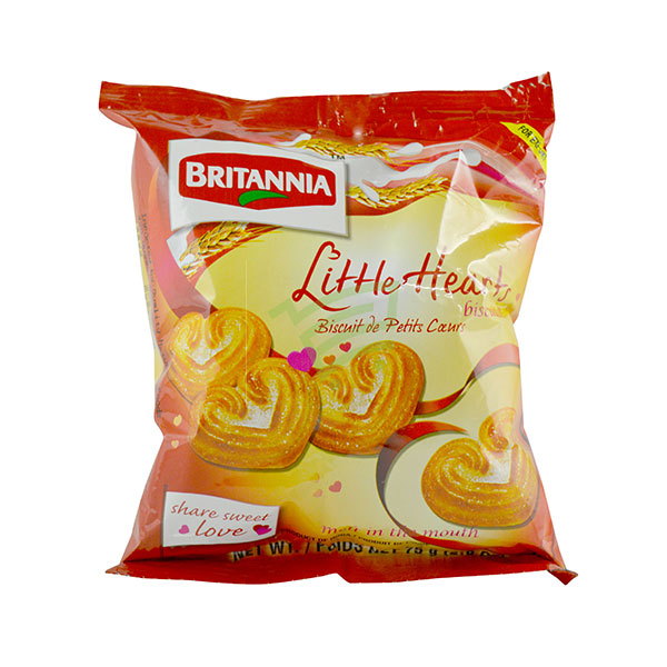 Indian grocery online - Britannia Little Hearts 75G - Cartly
