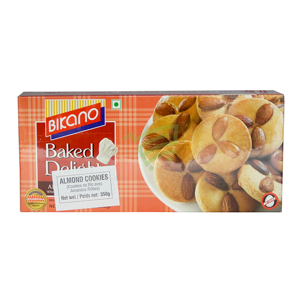 Indian grocery online - Bikano Almond Cookies 350G - Cartly