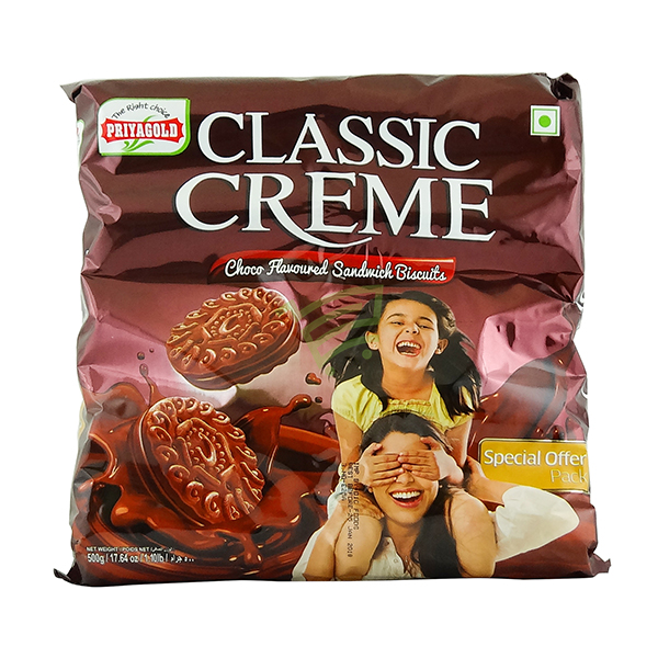 Indian grocery online - Priyagold Classic Creme Choco Biscuits 500g - Cartly