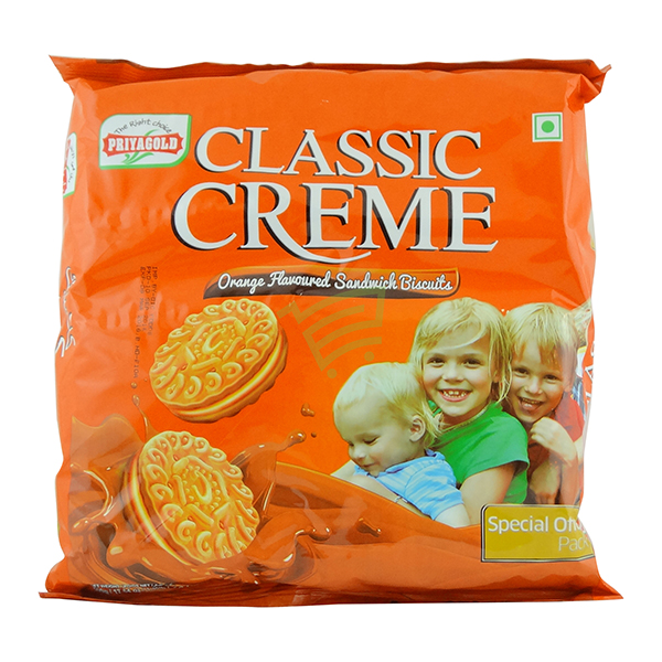 Indian grocery online - Priyagold Classic Creme Orange Biscuits 500g - Cartly
