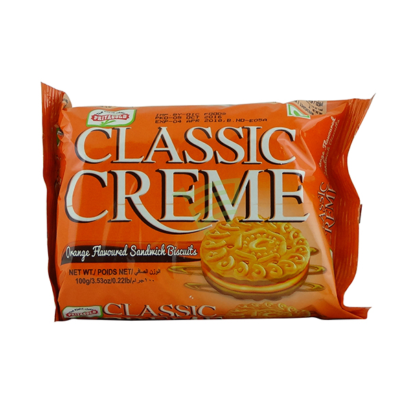 Indian grocery online - Priyagold Classic Creme Orange Biscuits 100g - Cartly