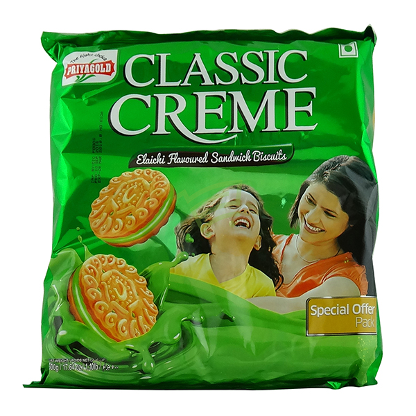 Indian grocery online - Priyagold Classic Creme Elaichi Biscuits 500g - Cartly