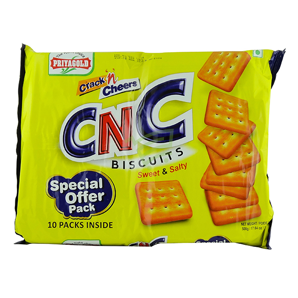 Indian grocery online - Priyagold CNC Sweety & Salty Biscuits 500g - Cartly