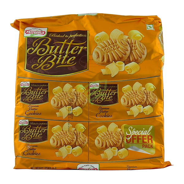 Indian grocery online - Priyagold Butter Bite Cookies 750g - Cartly