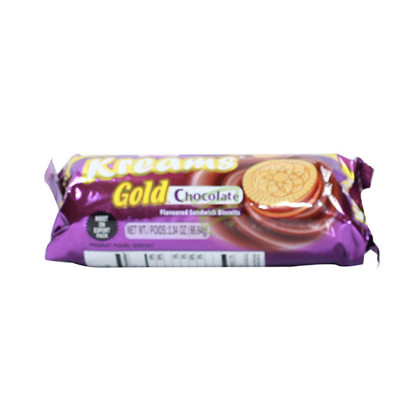 Indian grocery online - Parle Kreams  Gold Chocolate Biscuits 80G - Cartly
