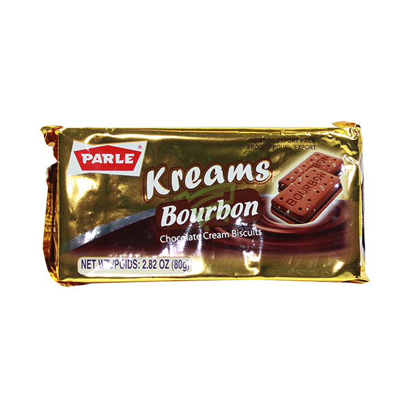 Indian grocery online - Parle Kreams Bourbon Chocolate Cream Biscuits 80G - Cartly