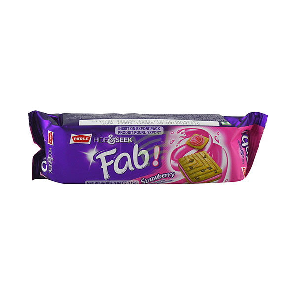 Indian grocery online - Parle Hide&Seek Strawberry Cream Biscuits  112G  - Cartly