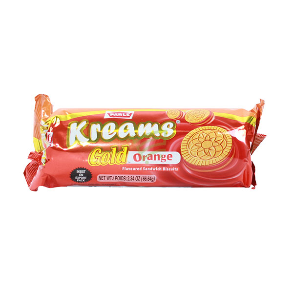 Indian grocery online - Parle Kreams Gold Orange Cream Biscuits 80G - Cartly