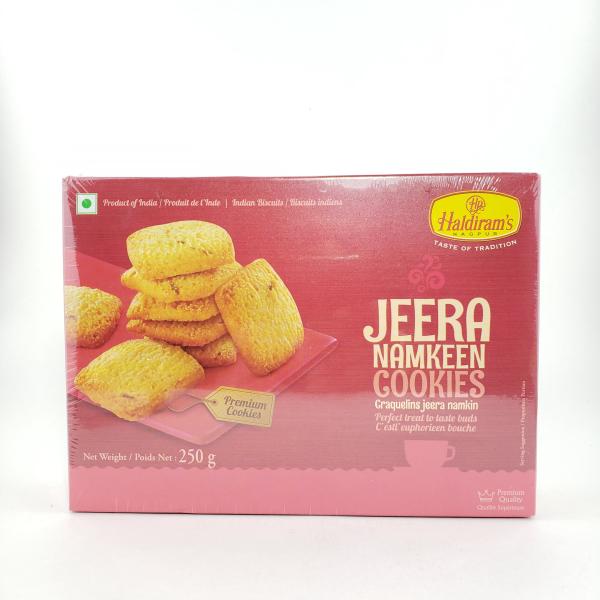 Indian grocery online - Haldiram's Jeera Namkeen Biscuits 250G  - Cartly