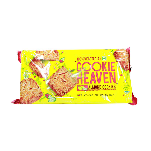 Indian grocery online - Cookie Heaven Almond Cookies 200G - Cartly