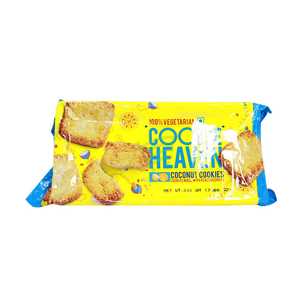 Indian grocery online - Cookie Heaven Coconut Cookies  200G - Cartly