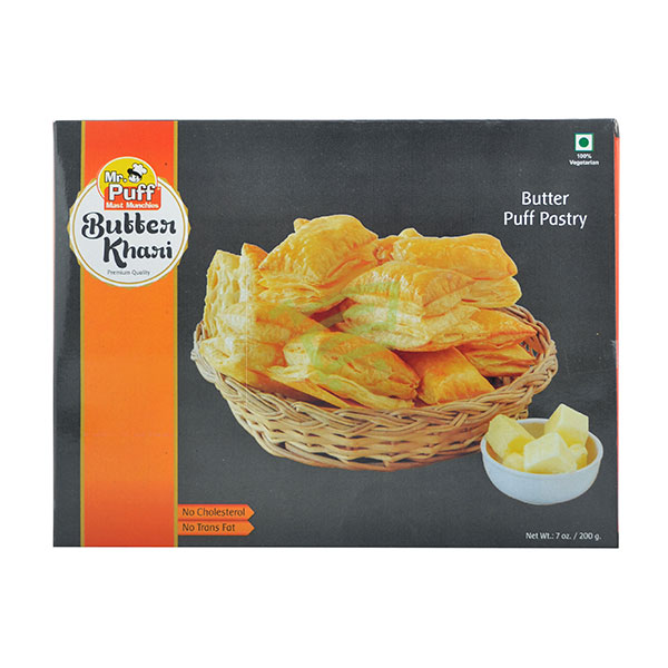 Indian grocery online - Mr. Puff Butter Khari 200G - Cartly