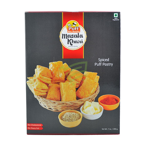 Indian grocery online - Mr. Puff Spiced Puff Pastry/Khari 200G - Cartly