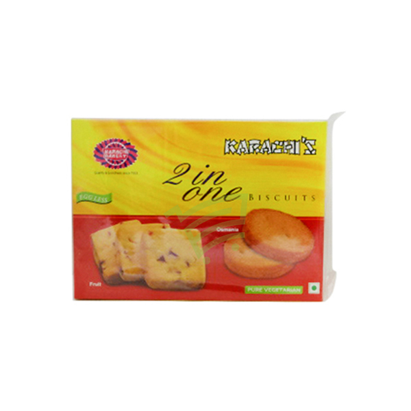 Indian grocery online - karachis 2-in-1 biscuits fruit and cashew Biscuits 400g - Cartly