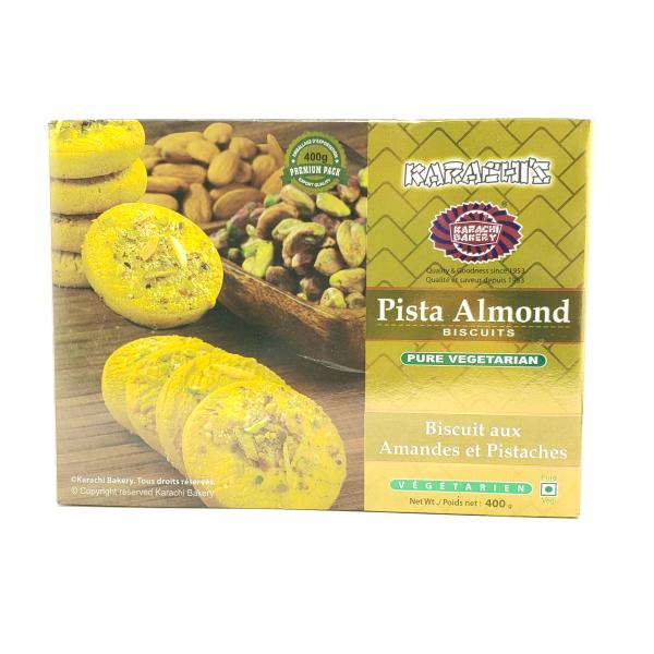 Indian grocery online - Karachi Badam Pista Biscuits 400G - Cartly