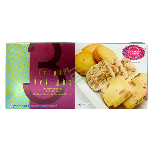 Indian grocery online - Karachi Triple Delight Biscuits 600G - Cartly