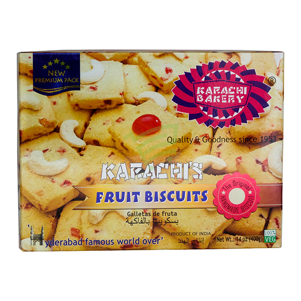 Indian grocery online - Karachi Fruit Biscuits 400G - Cartly