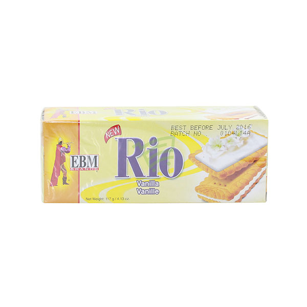 Indian grocery online - EBM Rio Vanilla Cookies 117G - Cartly