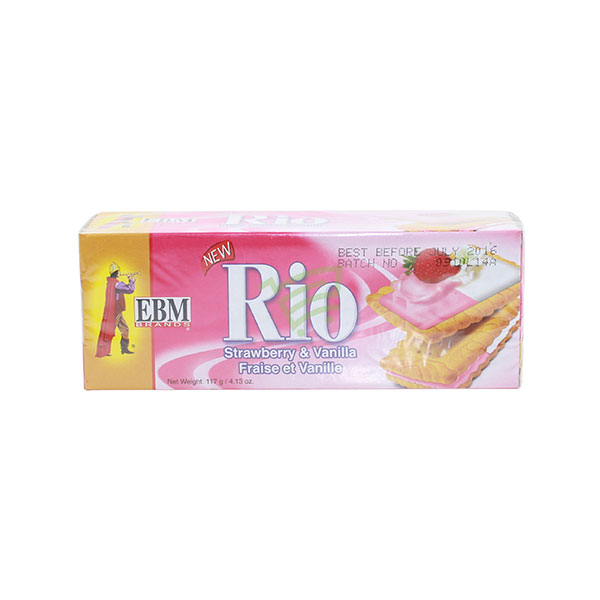 Indian grocery online - EBM Rio Strawberry & Vanila Cream Cookies 117G - Cartly