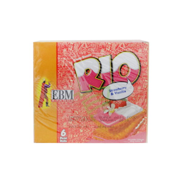 Indian grocery online - EBM Rio Strawberry & Vanila Cream Cookies  384g - Cartly