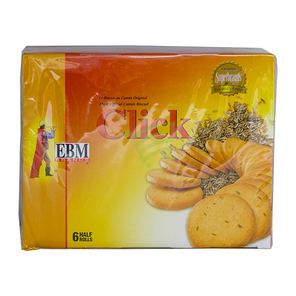 Indian grocery online - EBM Click Cumin Cookies 6 Rolls - Cartly