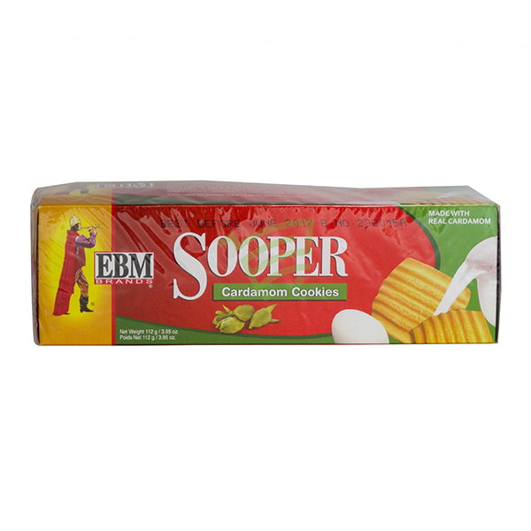 Indian grocery online - EBM Sooper Cardamom Cookies 112G - Cartly