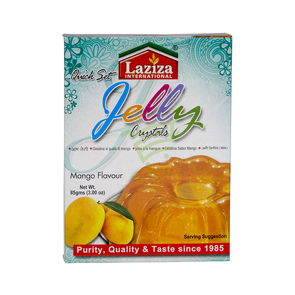 Indian grocery online - Laziza Jelly Crystals Mango 85G - Cartly