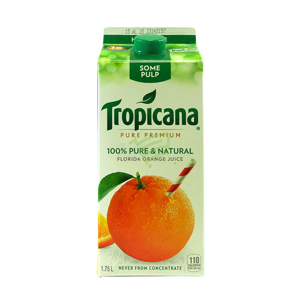 Indian grocery online - Tropicana Orange Juice With Some  Pulp  1.75L - Cartly