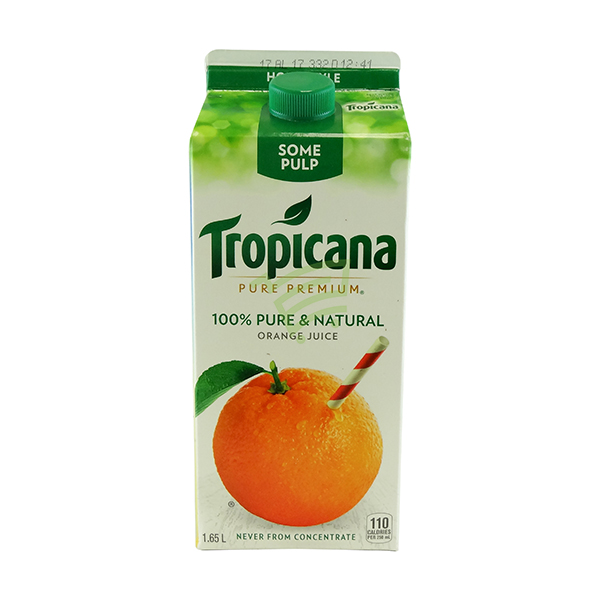Indian grocery online - Tropicana Orange Juice with Some Pulp 1.65l - Cartly