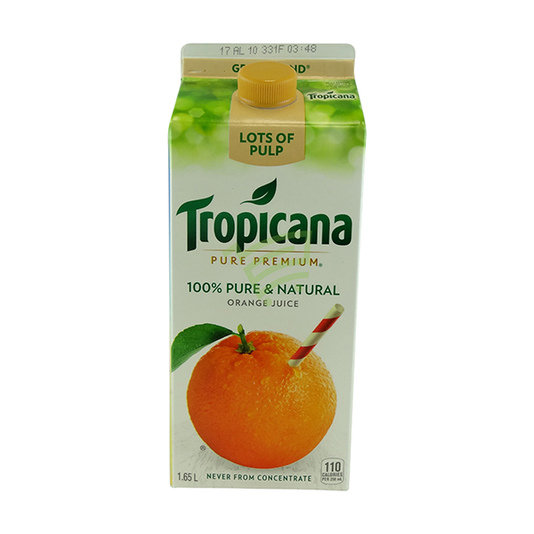 Indian grocery online - Tropicana Orange Juice with Lots of Pulp 1.65l - Cartly
