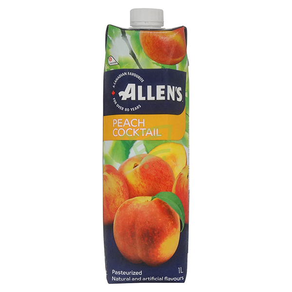 Indian grocery online - Allen's Peach Cocktail 1L - Cartly