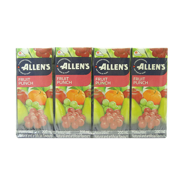 Indian grocery online - Allen's Fruit Punch  200Ml/8Pk - Cartly
