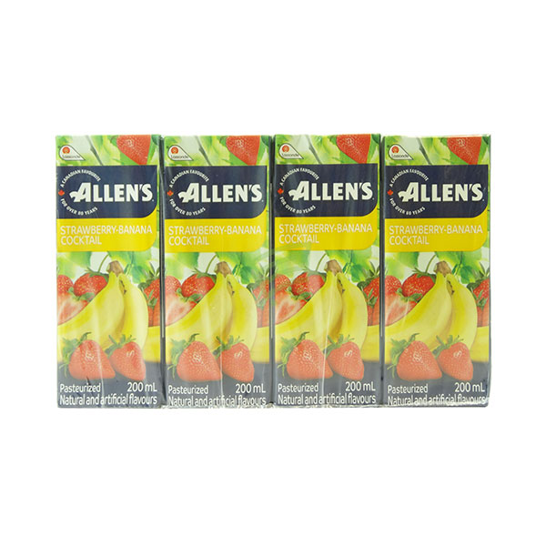 Indian grocery online - Allen's Strawberry Banana Juice  200Ml/8Pk - Cartly