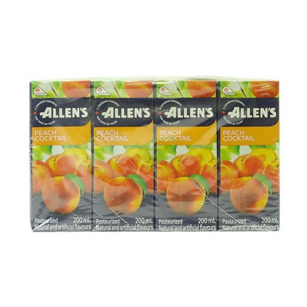 Indian grocery online - Allen's Peach Cocktail  200Ml/8Pk - Cartly