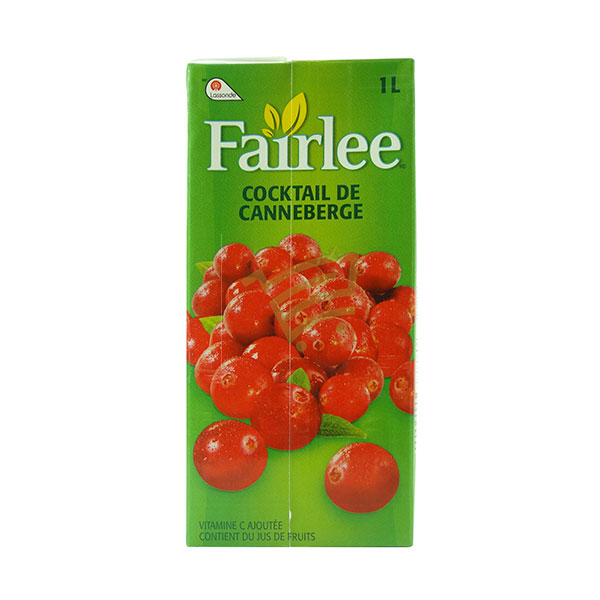 Indian grocery online - Fairlee Cocktail Cranberry 1L - Cartly