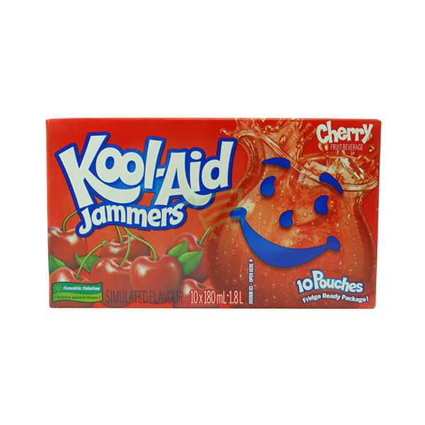 Indian grocery online - Kool-Aid Jammers Cherry 10X180Ml - Cartly