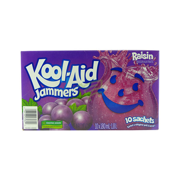 Indian grocery online - Kool-Aid Jammers Grapes 10X180Ml - Cartly
