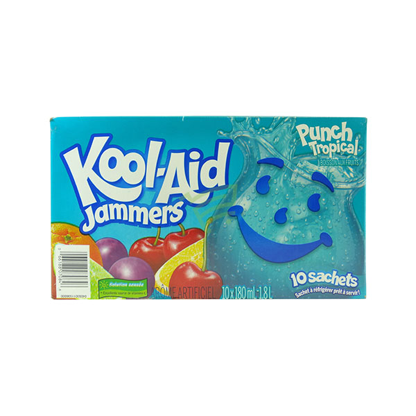 Indian grocery online - Kool-Aid Jammers Punch Tropical 10X180Ml - Cartly