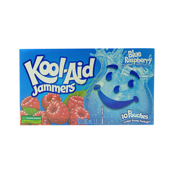 Indian grocery online - Kool-Aid Jammers Blue Raspberry 10X180Ml - Cartly